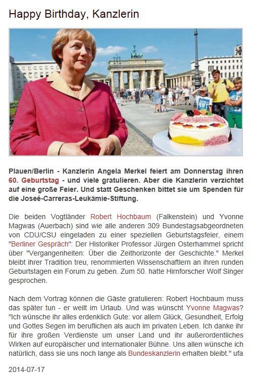 Pressebericht Yvonne Magwas Gratuliert Der Kanzlerin Yvonne Magwas